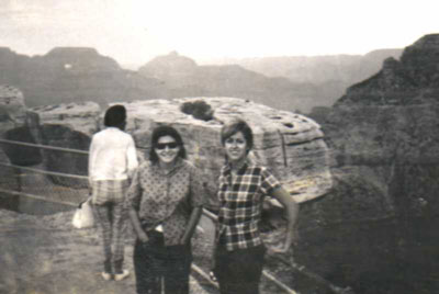 Judee Sill and V at the Grand Canyon